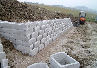 muro blocchi scarpata