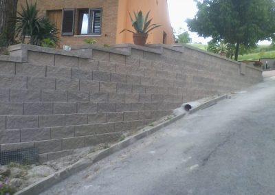 muro blocchi splittati