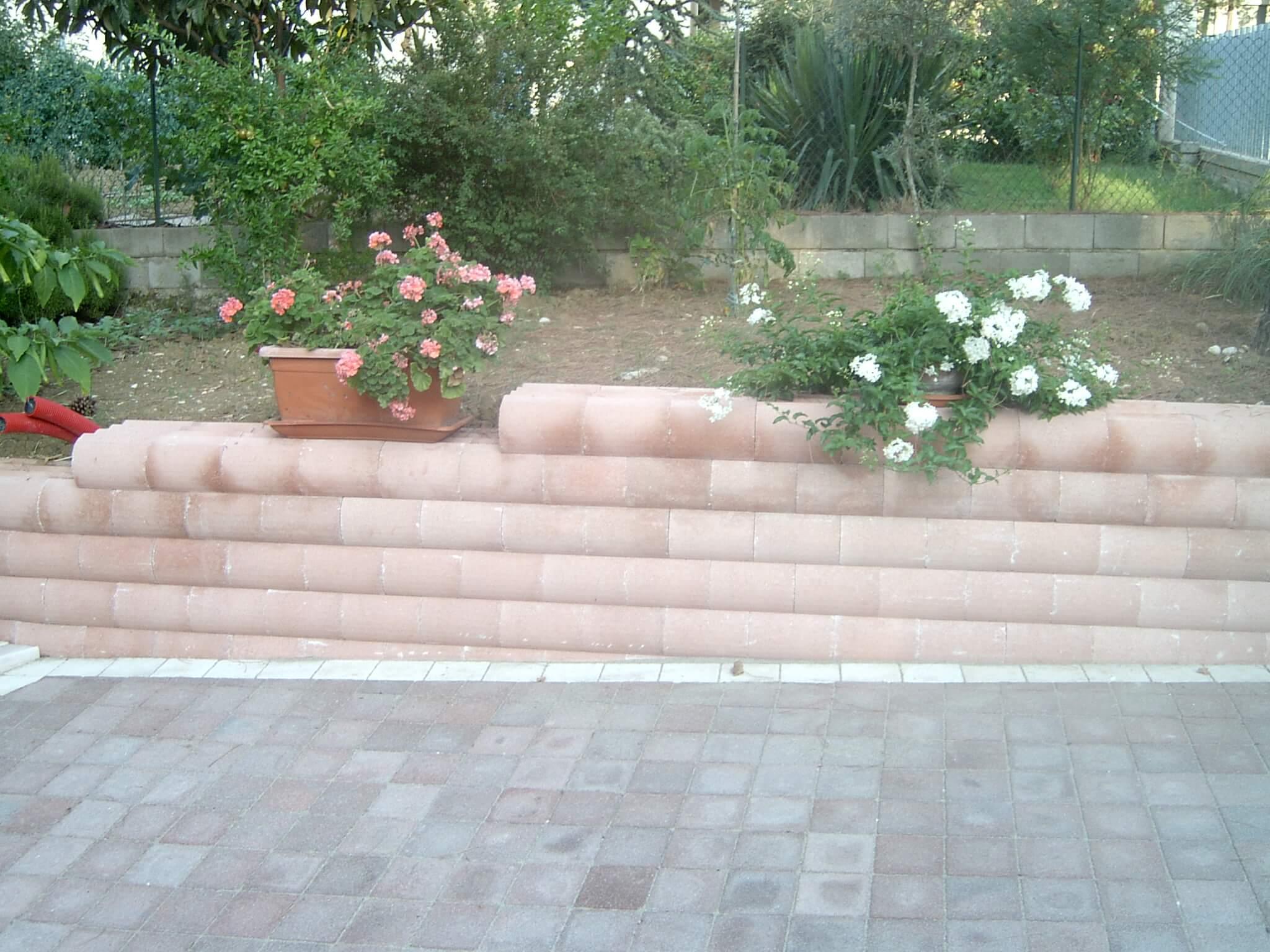 muro blocchi ondula