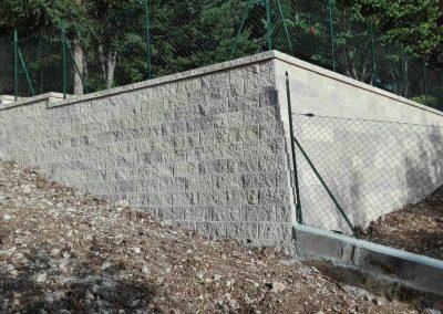 muro blocco splittato grigio